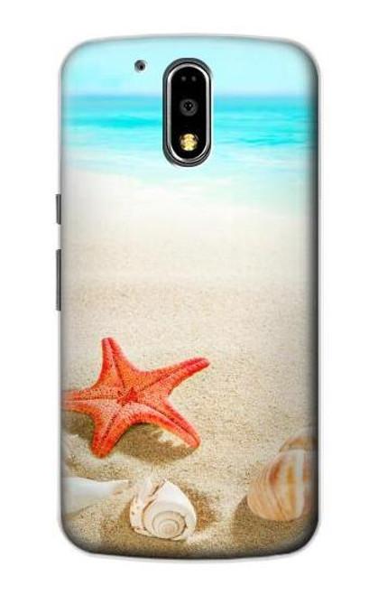 S3212 Sea Shells Starfish Beach Case For Motorola Moto G4, G4 Plus