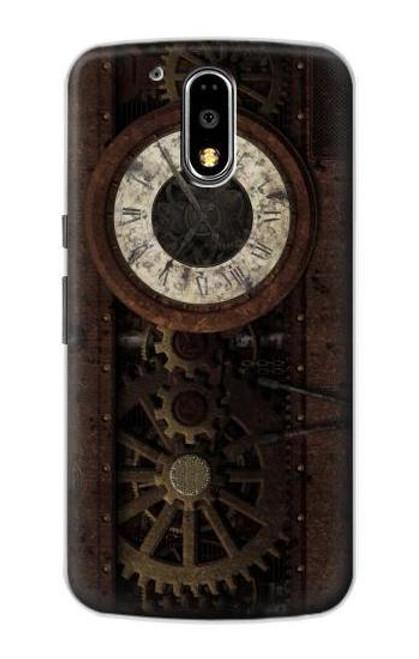 S3221 Steampunk Clock Gears Case For Motorola Moto G4, G4 Plus