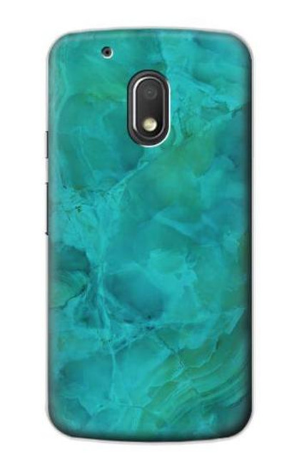 S3147 Aqua Marble Stone Case For Motorola Moto G4 Play