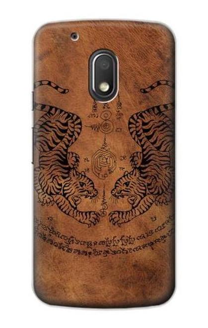 S3209 Sak Yant Twin Tiger Case For Motorola Moto G4 Play