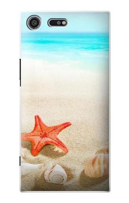 S3212 Sea Shells Starfish Beach Case For Sony Xperia XZ Premium
