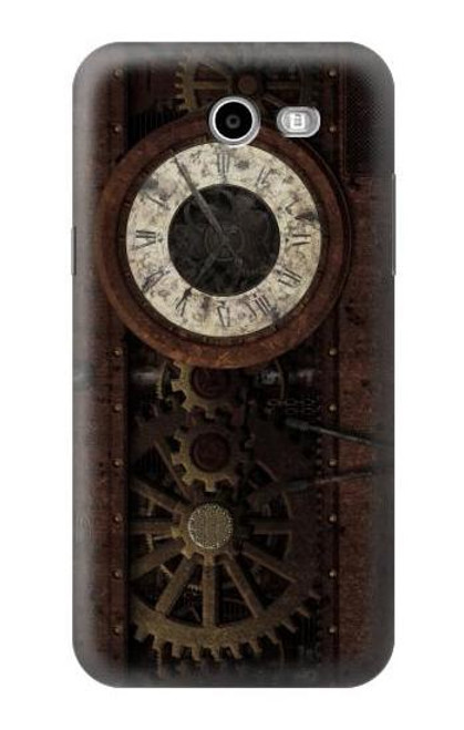 S3221 Steampunk Clock Gears Case For Samsung Galaxy J7 (2017), J7 Perx, J7V, J7 Sky Pro