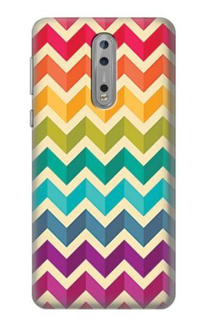 S2362 Rainbow Colorful Shavron Zig Zag Pattern Case For Nokia 8