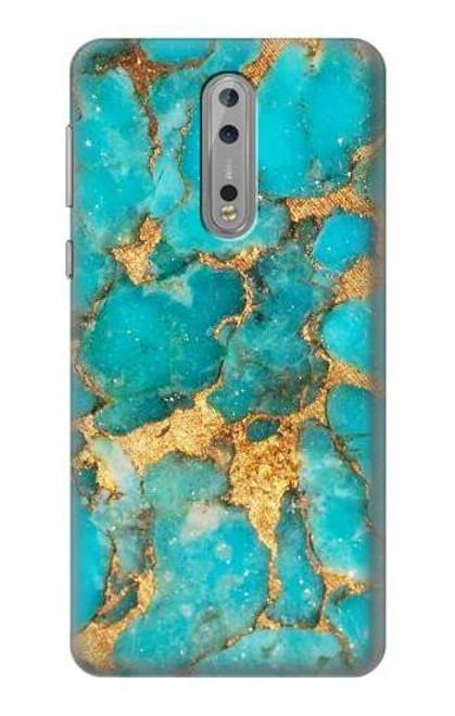 S2906 Aqua Turquoise Stone Case For Nokia 8