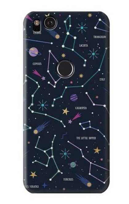 S3220 Star Map Zodiac Constellations Case For Google Pixel 2