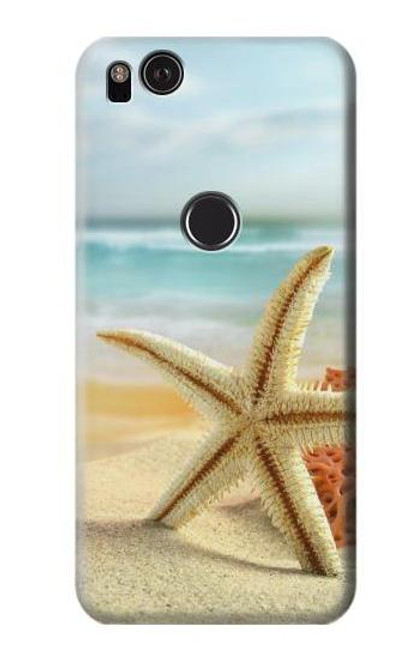 S1117 Starfish on the Beach Case For Google Pixel 2 XL