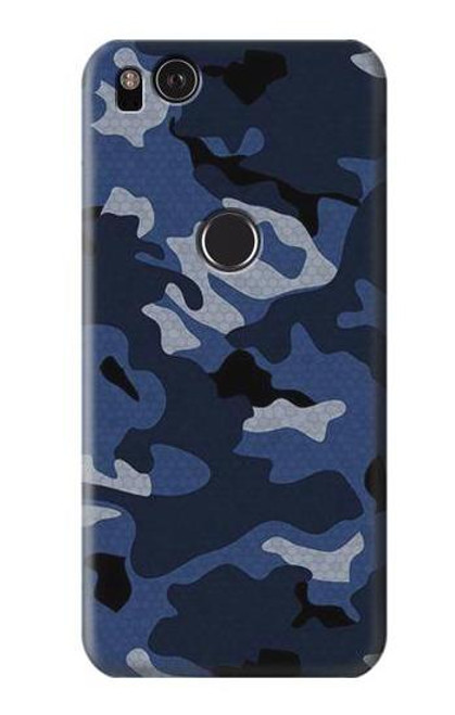 S2959 Navy Blue Camo Camouflage Case For Google Pixel 2 XL
