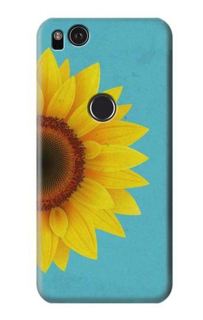 S3039 Vintage Sunflower Blue Case For Google Pixel 2 XL