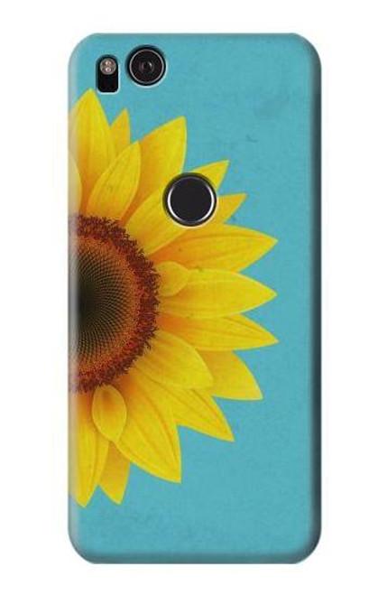 S3039 Vintage Sunflower Blue Case For Google Pixel 2 XL