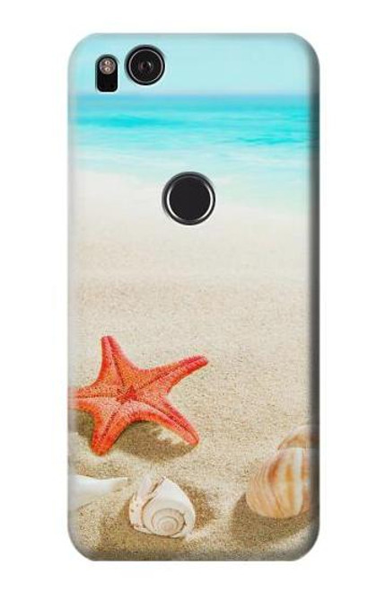 S3212 Sea Shells Starfish Beach Case For Google Pixel 2 XL