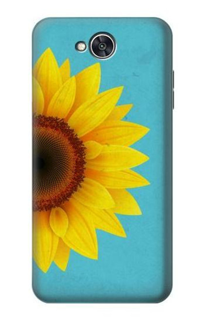 S3039 Vintage Sunflower Blue Case For LG X power2, LG X Charge, LG K10 Power, LG Fiesta