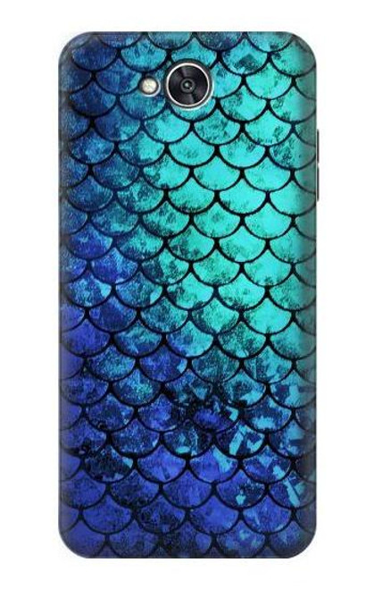 S3047 Green Mermaid Fish Scale Case For LG X power2, LG X Charge, LG K10 Power, LG Fiesta