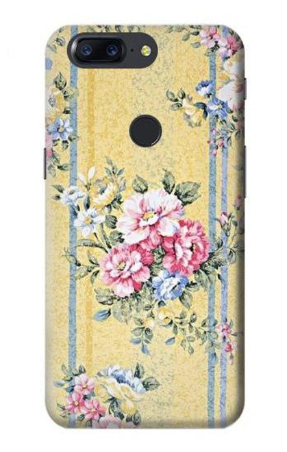S2229 Vintage Flowers Case For OnePlus 5T