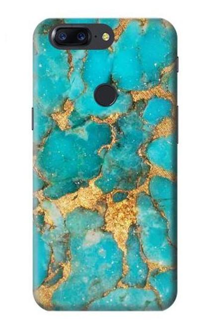 S2906 Aqua Turquoise Stone Case For OnePlus 5T