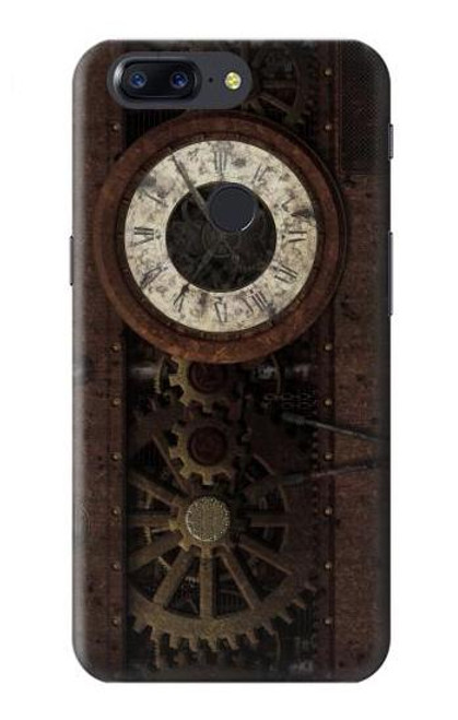 S3221 Steampunk Clock Gears Case For OnePlus 5T