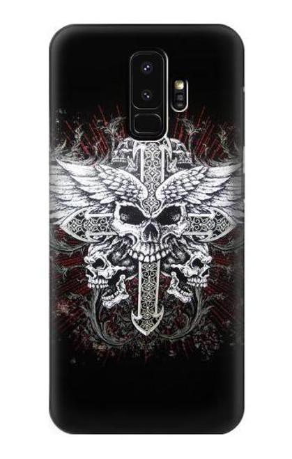 S1434 Skull Wing Tattoo Biker Case For Samsung Galaxy S9 Plus