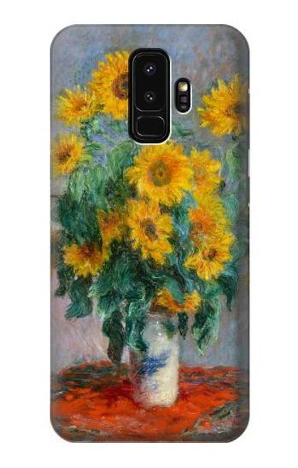 S2937 Claude Monet Bouquet of Sunflowers Case For Samsung Galaxy S9 Plus