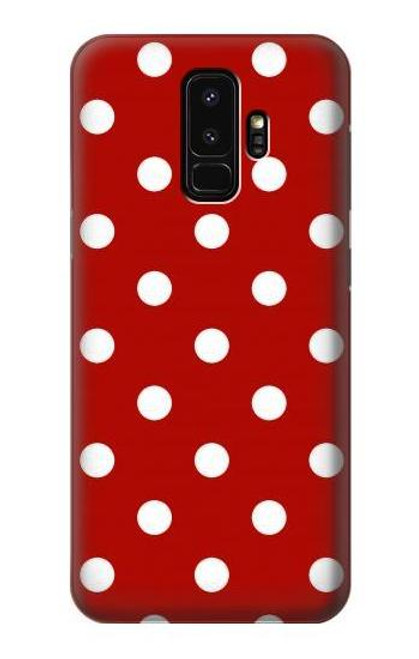S2951 Red Polka Dots Case For Samsung Galaxy S9 Plus