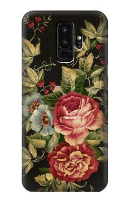 S3013 Vintage Antique Roses Case For Samsung Galaxy S9 Plus