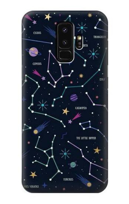 S3220 Star Map Zodiac Constellations Case For Samsung Galaxy S9 Plus