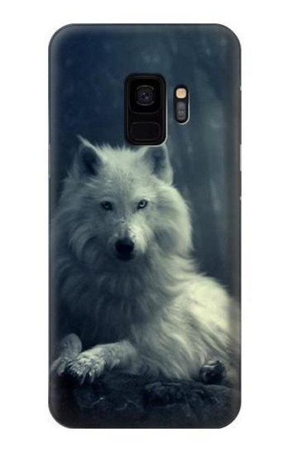 S1516 White Wolf Case For Samsung Galaxy S9