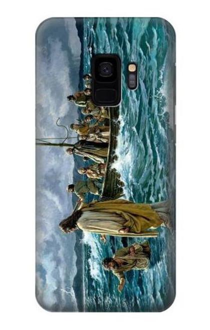 S1722 Jesus Walk on The Sea Case For Samsung Galaxy S9