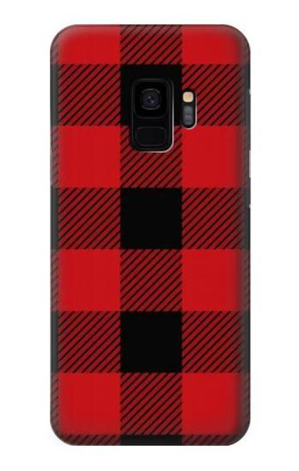 S2931 Red Buffalo Check Pattern Case For Samsung Galaxy S9