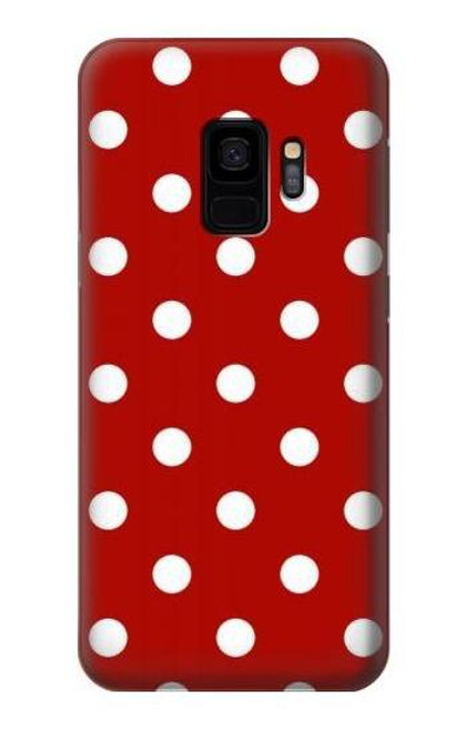 S2951 Red Polka Dots Case For Samsung Galaxy S9