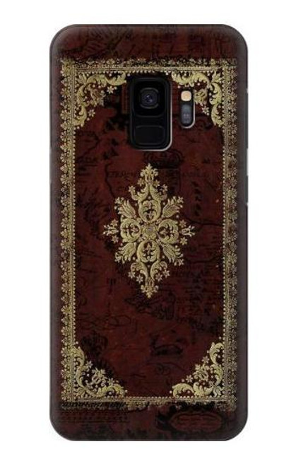 S3014 Vintage Map Book Cover Case For Samsung Galaxy S9