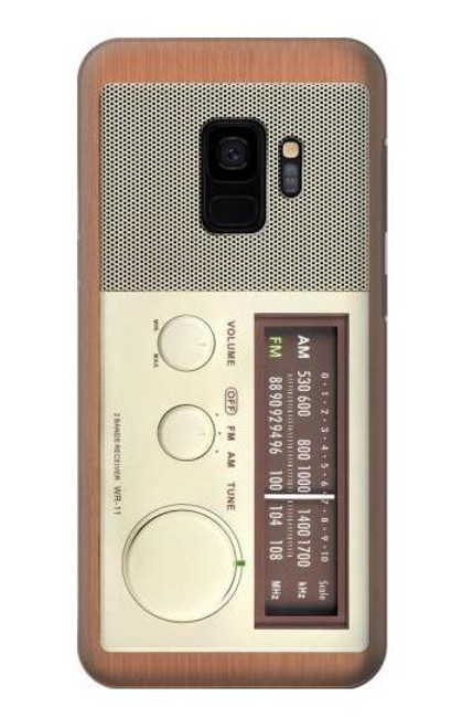 S3165 FM AM Wooden Receiver Graphic Case For Samsung Galaxy S9