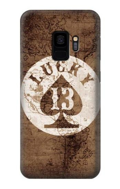 S3188 Lucky 13 Old Map Case For Samsung Galaxy S9