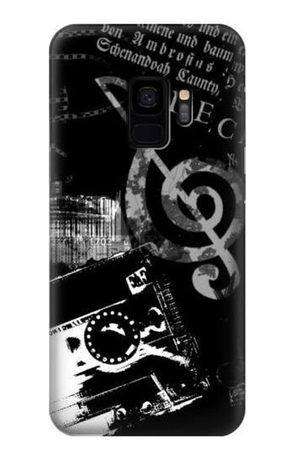 S3197 Music Cassette Note Case For Samsung Galaxy S9