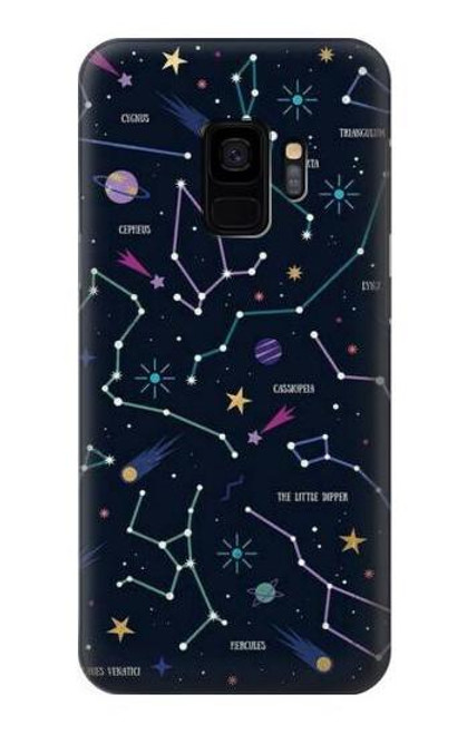 S3220 Star Map Zodiac Constellations Case For Samsung Galaxy S9