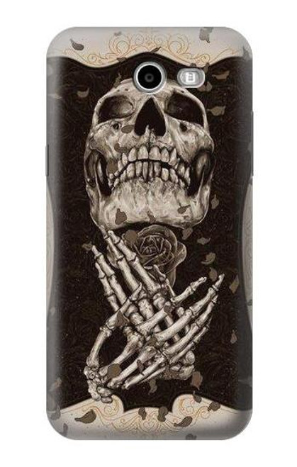 S1676 Skull Rose Case For Samsung Galaxy J3 Emerge, J3 (2017), J3 Prime, J3 Eclipse, Express Prime 2, Amp Prime 2, J3 Luna Pro, J3 Mission, J3 Eclipse, Sol 2 (SM-J327)
