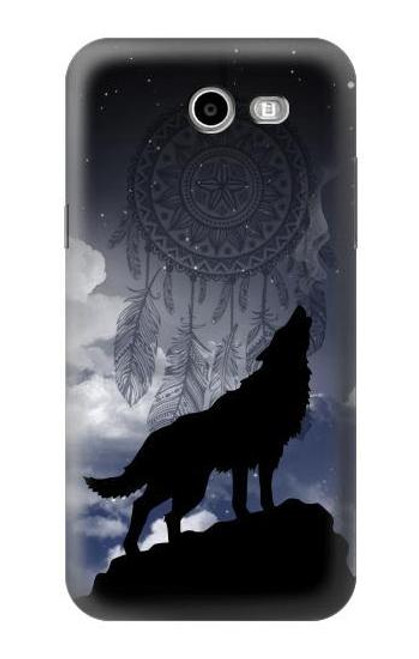 S3011 Dream Catcher Wolf Howling Case For Samsung Galaxy J3 Emerge, J3 (2017), J3 Prime, J3 Eclipse, Express Prime 2, Amp Prime 2, J3 Luna Pro, J3 Mission, J3 Eclipse, Sol 2 (SM-J327)