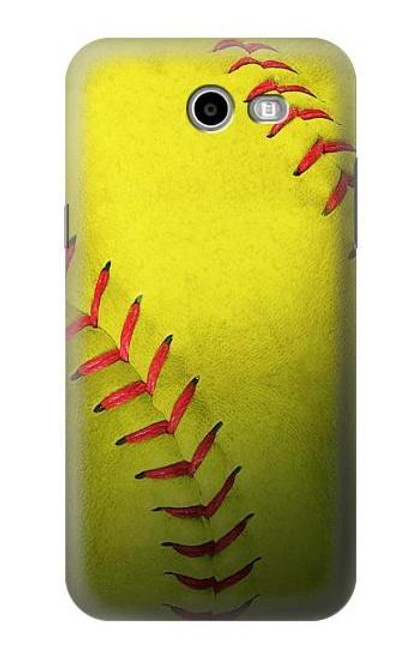 S3031 Yellow Softball Ball Case For Samsung Galaxy J3 Emerge, J3 (2017), J3 Prime, J3 Eclipse, Express Prime 2, Amp Prime 2, J3 Luna Pro, J3 Mission, J3 Eclipse, Sol 2 (SM-J327)