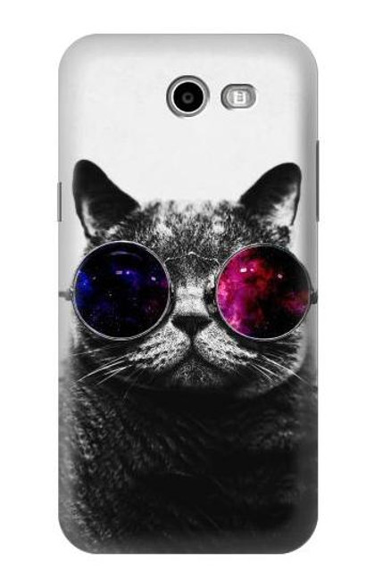 S3054 Cool Cat Glasses Case For Samsung Galaxy J3 Emerge, J3 (2017), J3 Prime, J3 Eclipse, Express Prime 2, Amp Prime 2, J3 Luna Pro, J3 Mission, J3 Eclipse, Sol 2 (SM-J327)