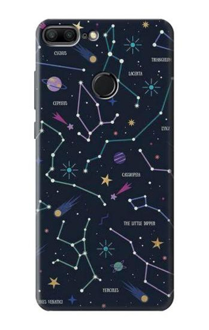 S3220 Star Map Zodiac Constellations Case For Huawei Honor 9 Lite