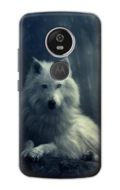S1516 White Wolf Case For Motorola Moto E5 Plus