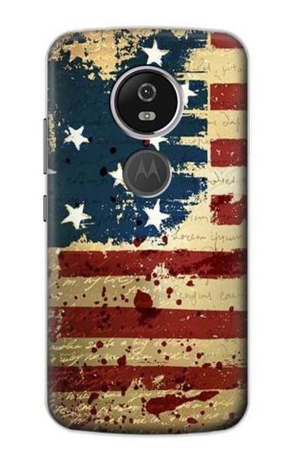 S2349 Old American Flag Case For Motorola Moto E5 Plus