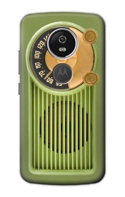 S2656 Vintage Bakelite Radio Green Case For Motorola Moto E5 Plus