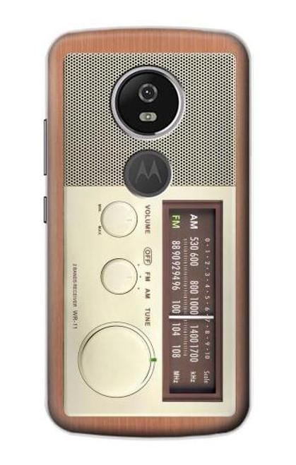 S3165 FM AM Wooden Receiver Graphic Case For Motorola Moto E5 Plus