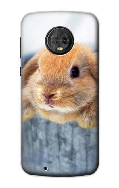 S0242 Cute Rabbit Case For Motorola Moto G6