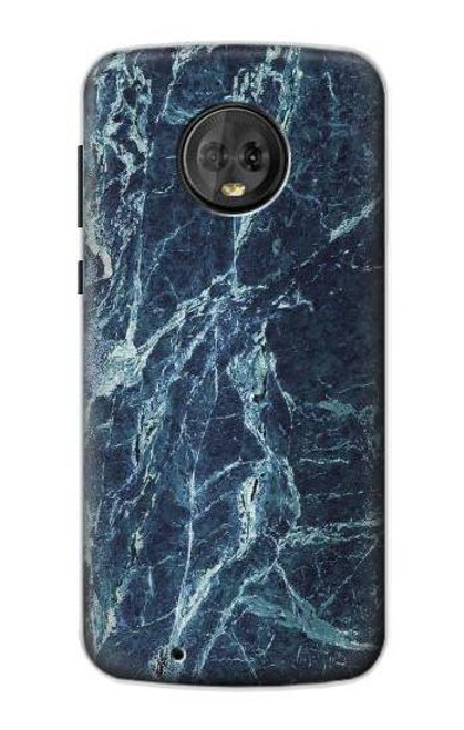 S2799 Light Blue Marble Stone Graphic Printed Case For Motorola Moto G6