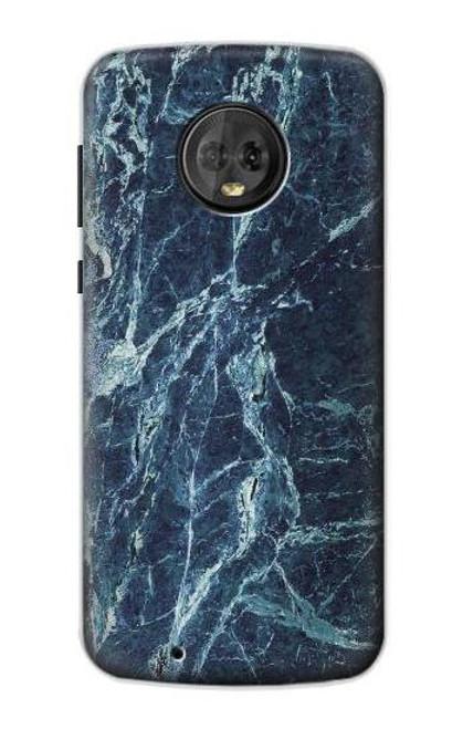 S2799 Light Blue Marble Stone Graphic Printed Case For Motorola Moto G6