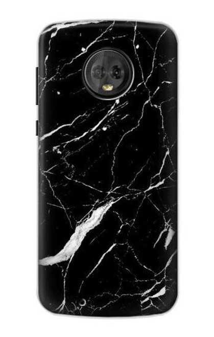 S2895 Black Marble Graphic Printed Case For Motorola Moto G6
