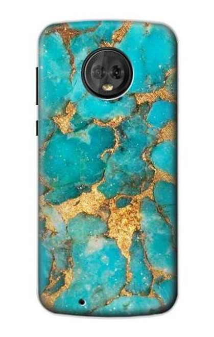 S2906 Aqua Turquoise Stone Case For Motorola Moto G6