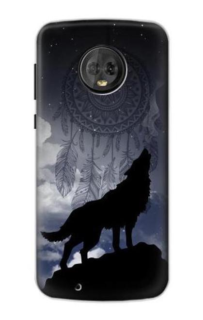 S3011 Dream Catcher Wolf Howling Case For Motorola Moto G6