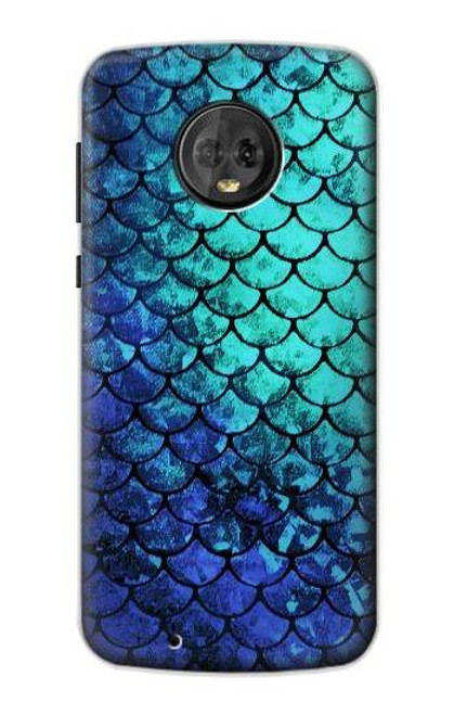 S3047 Green Mermaid Fish Scale Case For Motorola Moto G6