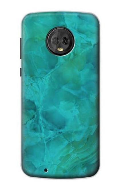 S3147 Aqua Marble Stone Case For Motorola Moto G6